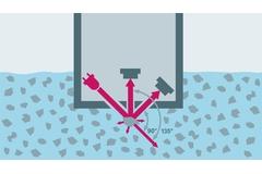 Princíp merania nerozpustených látok CUS51D