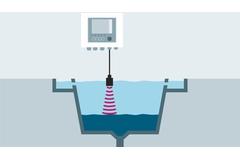 Princíp ultrazvukového merania rozhrania voda-kal